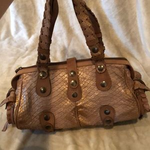Tan and brown Chloé handbag
